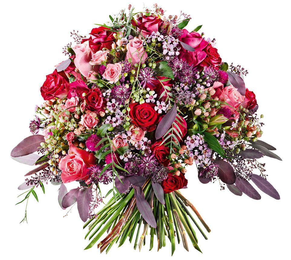 Blumenstrauss Liebe Meines Lebens Kuppelformiger Strauss In Rot