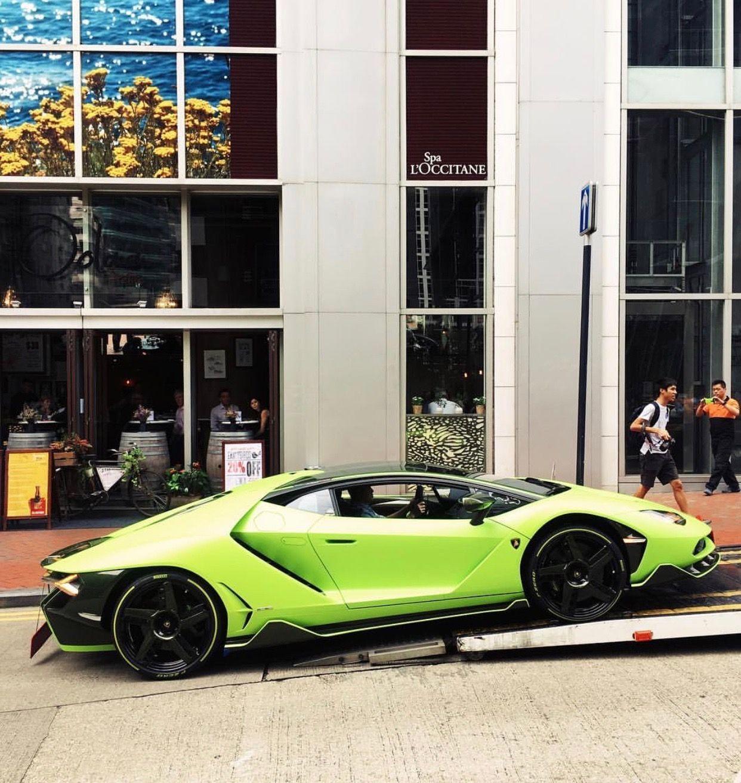 Lamborghini Centenario Coupe Painted In Ad Personam Verde Bronte W