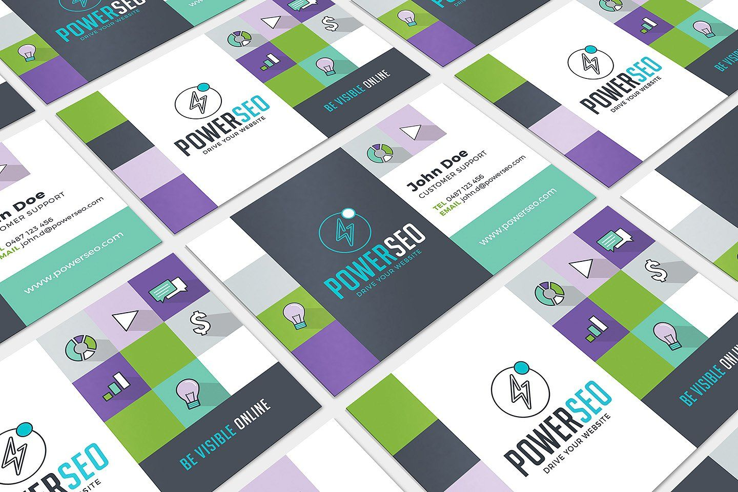 SEO Agency Business Card Template IllustratorformatStockPhotoshop