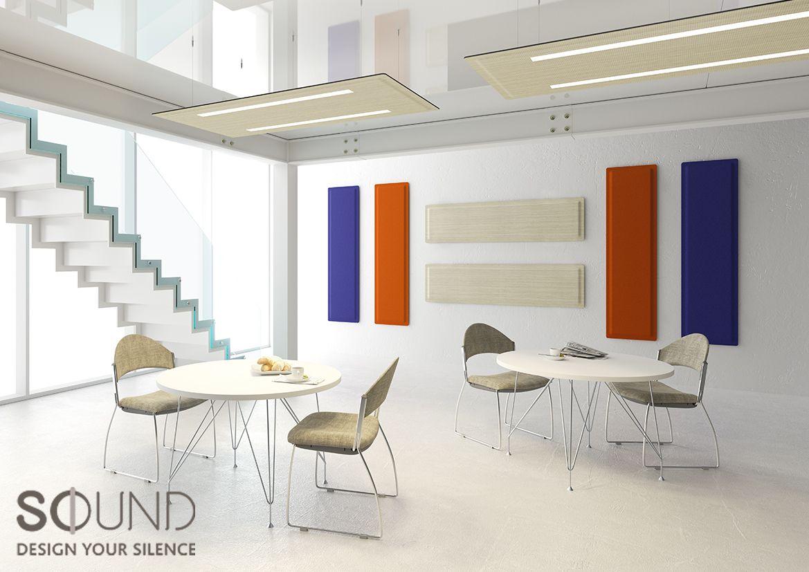 Pannelli fonoassorbenti per illuminazione ufficio luce suono
