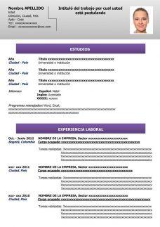 Hecho Modelos De Curriculum Vitae Formato De Curriculum Vitae Y