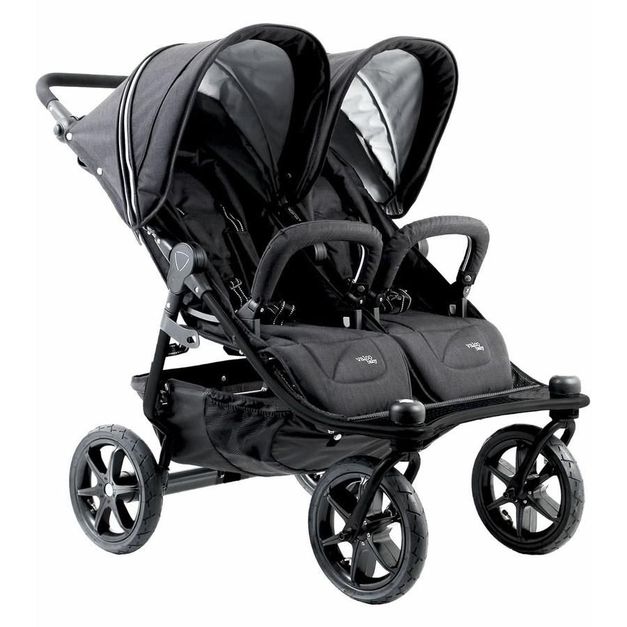 Valco baby duo x ink black baby strollers triple