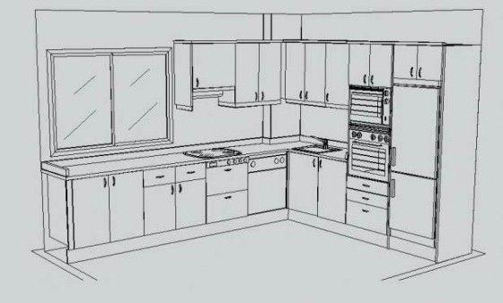 Resultado de imagen para cocina moderna plano cosinas cocinas cocinas modernas y cocinas - Planos cocinas pequenas ...