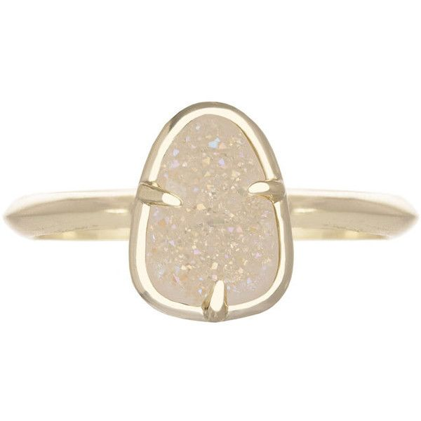 Kendra Scott Haylee Ring (10.480 HUF) ❤ liked on Polyvore featuring jewelry, rings, iridscnt d, iridescent jewelry, drusy jewelry, druzy jewelry, 14k ring and kendra scott ring