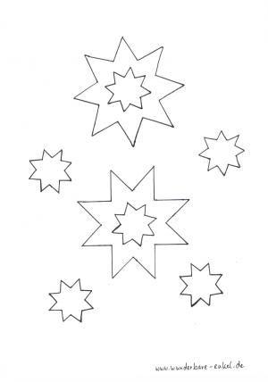 schablonen/ausmalen-sternenhimmel | stern schablone