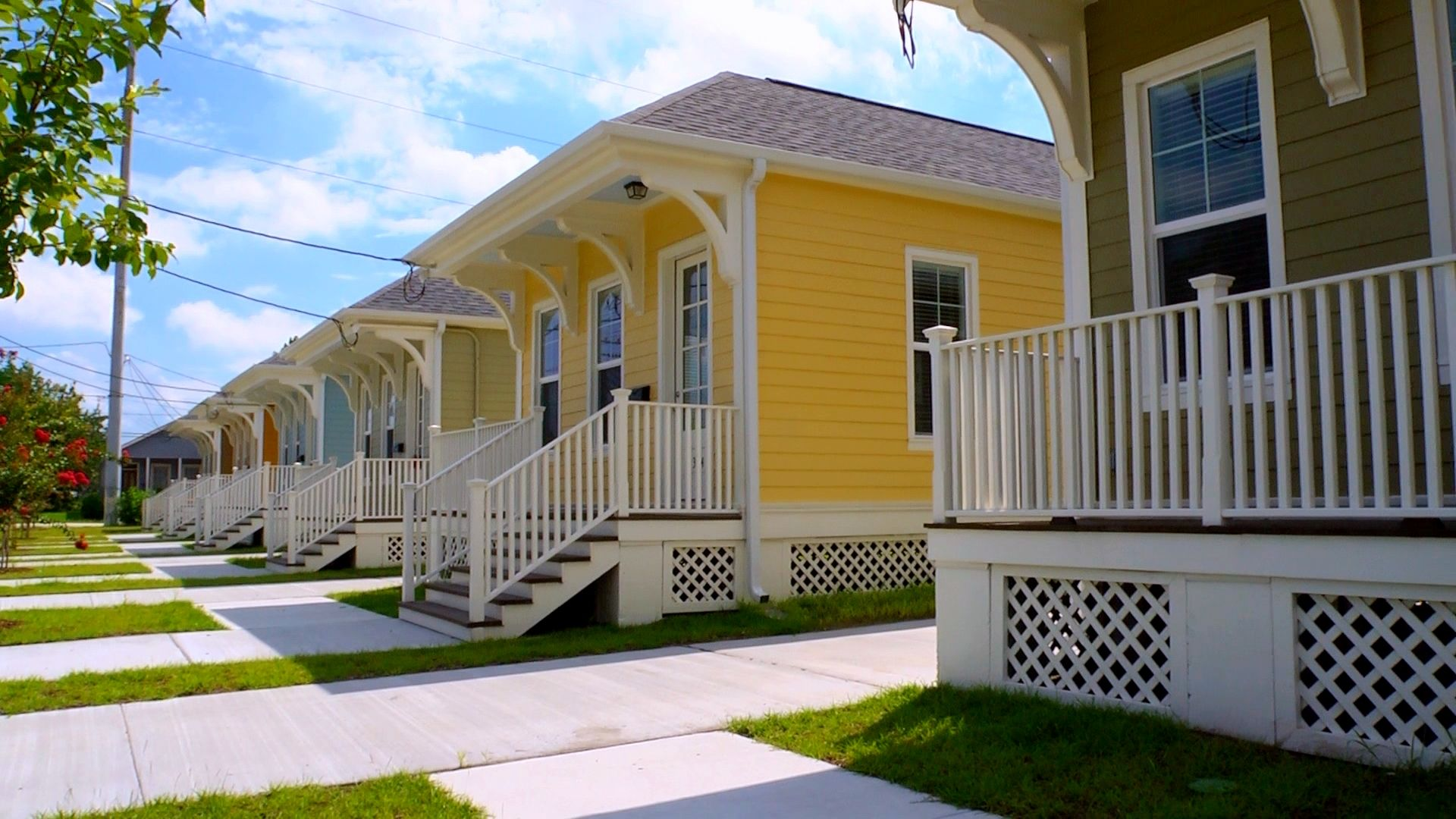 A Neighborhood Of Katrina Cottages In New Orleans La