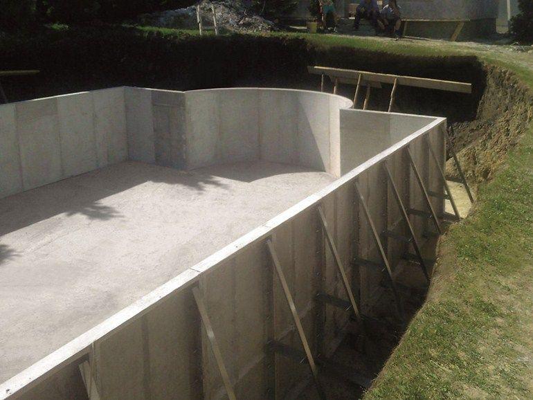 Fiber cement swimming pool kit modular swimming pool by for Prefab pools