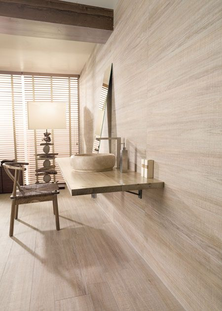 White Wash Wood Grain Porcelain Tiles On Bathroom Walls For Our Master Bath Wood Wall Design White Wood Floors Wood Wall Tiles