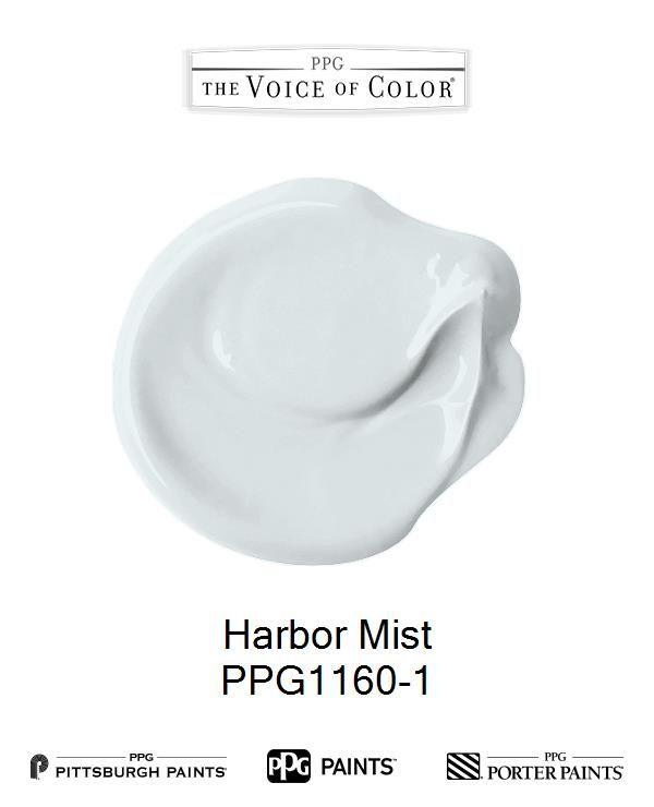 Harbor Mist Ppg1160 1 In 2019 Color Paint Colors Ppg Paint