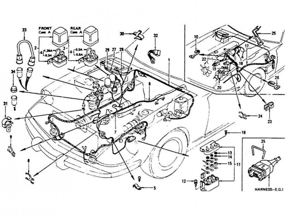 S4 Engine Bay Harness Diagram di 2020Pinterest