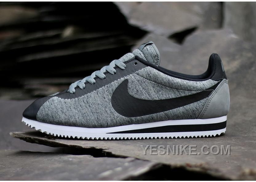 Nike Cortez Womens Black Grey Black Friday Deals 2016[XMS1670]