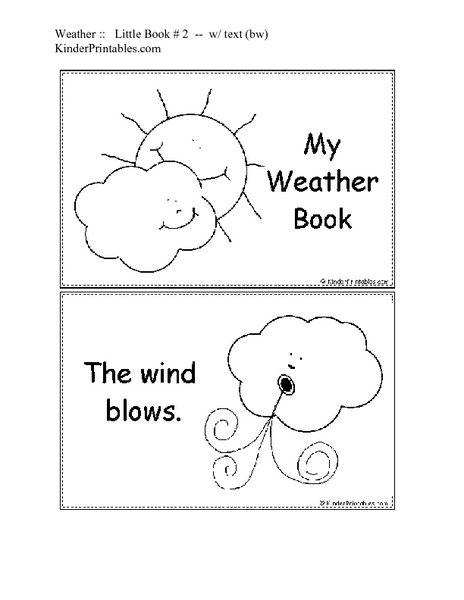 Weather Worksheet Kindergarten 7 Best Images Of Four