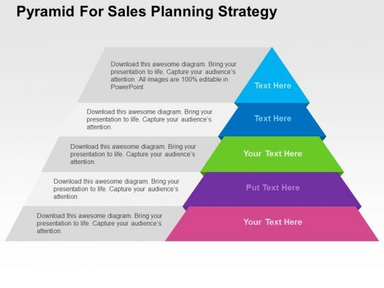 pyramid for sales planning strategy powerpoint template