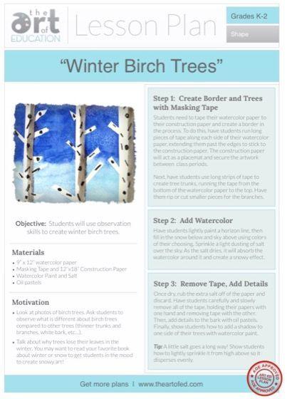 Birch Trees: Free Lesson Plan Download Winter Birch Trees: Free Lesson Plan DownloadWinter Birch Trees: Free Lesson Plan Download