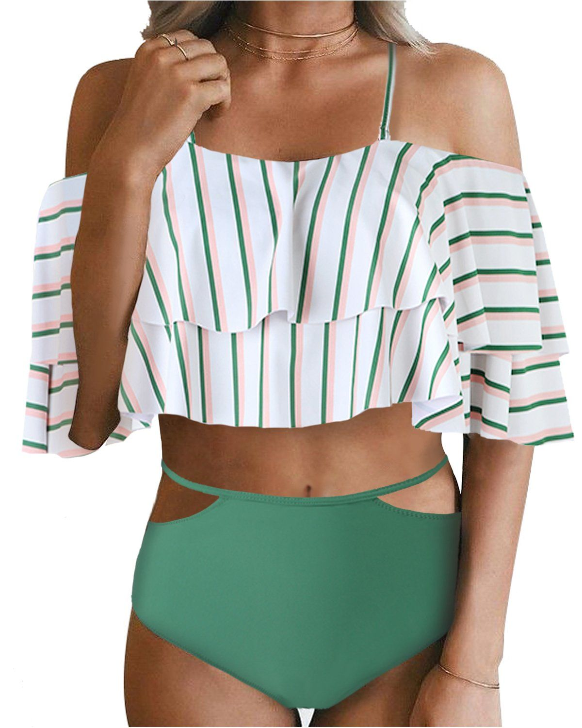 485374c135b59 Off Shoulder Ruffled Two Piece - Tempt Me