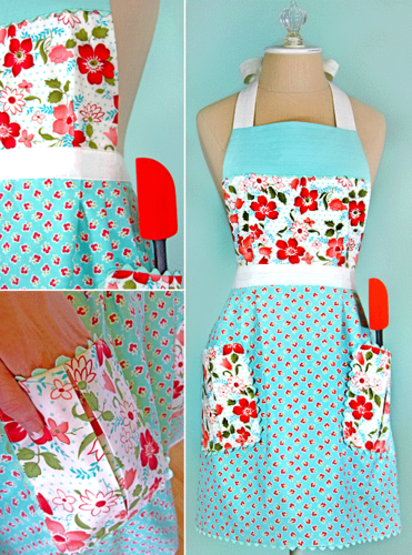 30 free vintage apron patterns sewing pinterest for Apron designs and kitchen apron styles