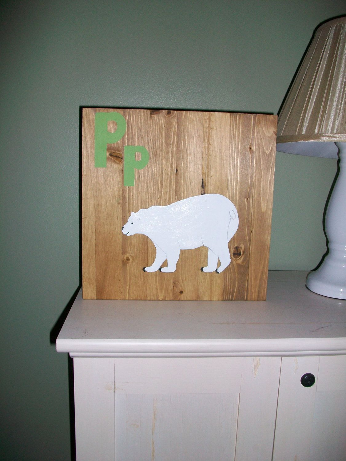 P Is For Polar Bear By Thebirchwood On Etsy 40 00