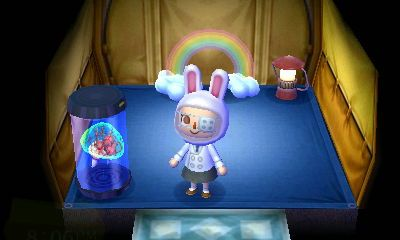 Animal Crossing: New Leaf Diary Day 1: Tent house, bunny hat