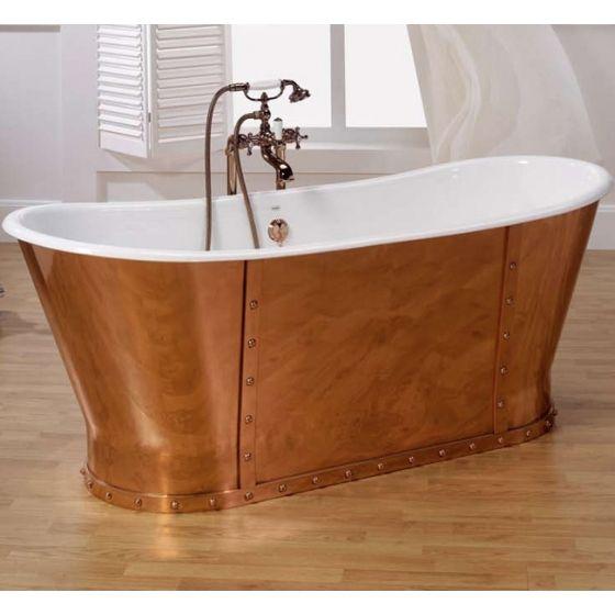 baignoire barra en fonte blanche et cuivre j 39 aime pas trop. Black Bedroom Furniture Sets. Home Design Ideas