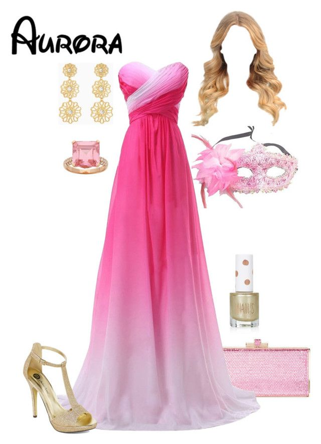 """""""Disney - Aurora"""" by briony-jae ❤ liked on Polyvore featuring Masquerade, Judith Leiber, Michael Antonio and Topshop"""