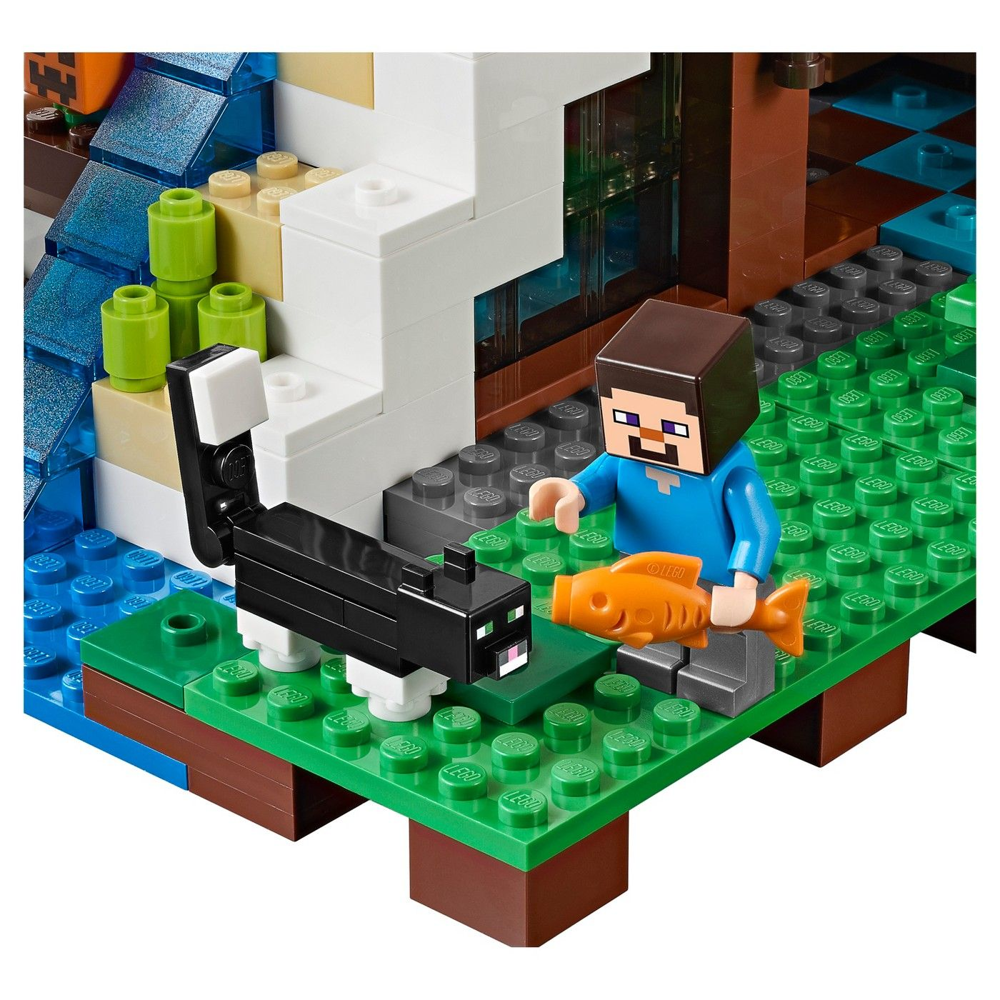 LEGO® Minecraft The Waterfall Base 21134 Minecraft,