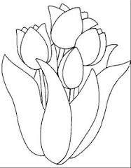 Resultado De Imagen Para Patrones De Flores Bordados Gratis Para Imprimir Tulipanes Para Colorear Tulipanes Dibujo Páginas Para Colorear De Flores