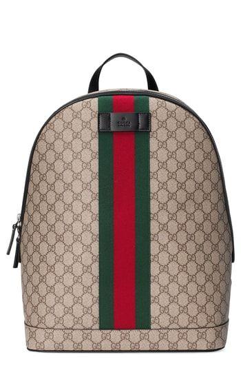f3f7f52db0502 Gucci Supreme Stripe Backpack in 2019