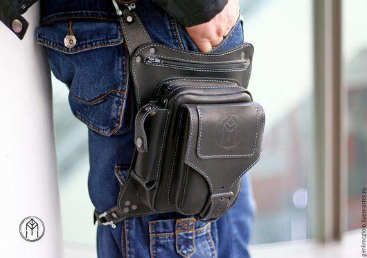 Мужские сумки ручной работы. Мото-сумка   Сумки из кожи   Leather ... 8c783122930