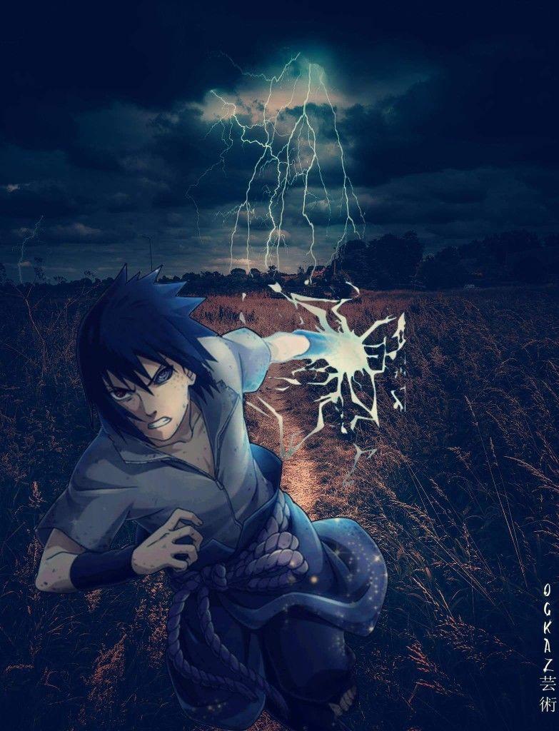 Sasuke Chidori Animasi Gambar