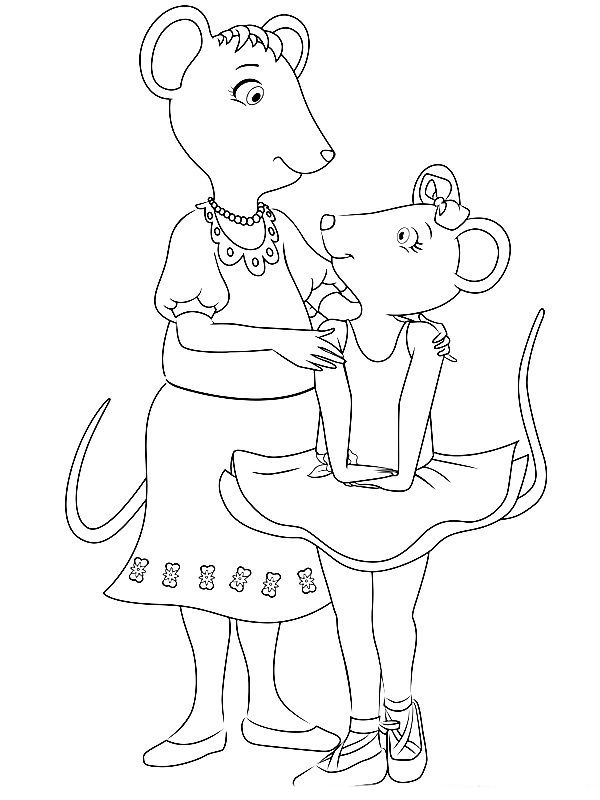 angelina ballerina coloring pages 28 recipes to cook pinterest