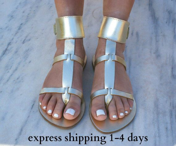 8e3560b78 DANAE 3 sandals  Greek leather sandals  ankle cuff sandals  ancient grecian  sandals