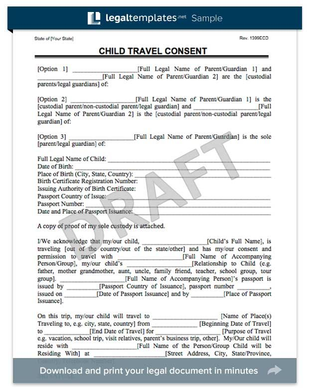 Child travel consent form florida trip pinterest child travel consent form thecheapjerseys Gallery