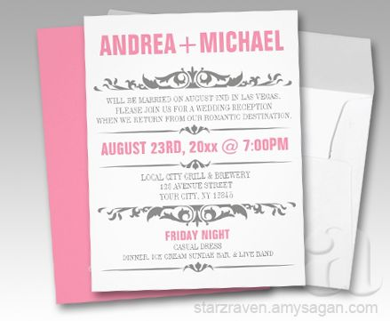 Pink gray wedding reception only invitations wedding planning pink gray wedding reception only invitations filmwisefo Choice Image