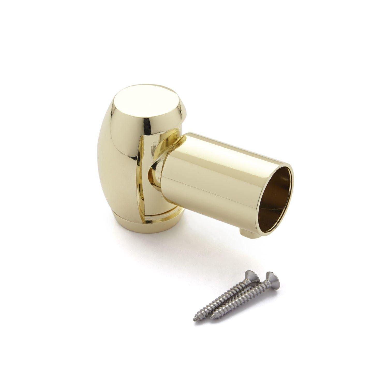Solid Brass Shower Curtain Rod Swivel Flange