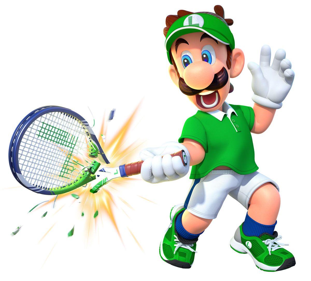 Luigi Art Mario Tennis Aces Art Gallery Luigi Mario Super Smash Bros