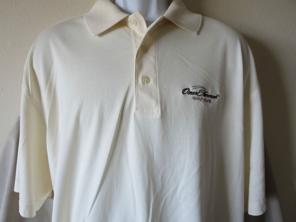 ocean hammock golf club polo short size xl ashworth creme palm beach florida ocean hammock golf club polo short size xl ashworth creme palm      rh   pinterest