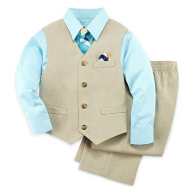1355a664ffb TFW 4-pc. Dress Shirt, Tie, Vest and Pants Set – Boys 4-10 found at ...