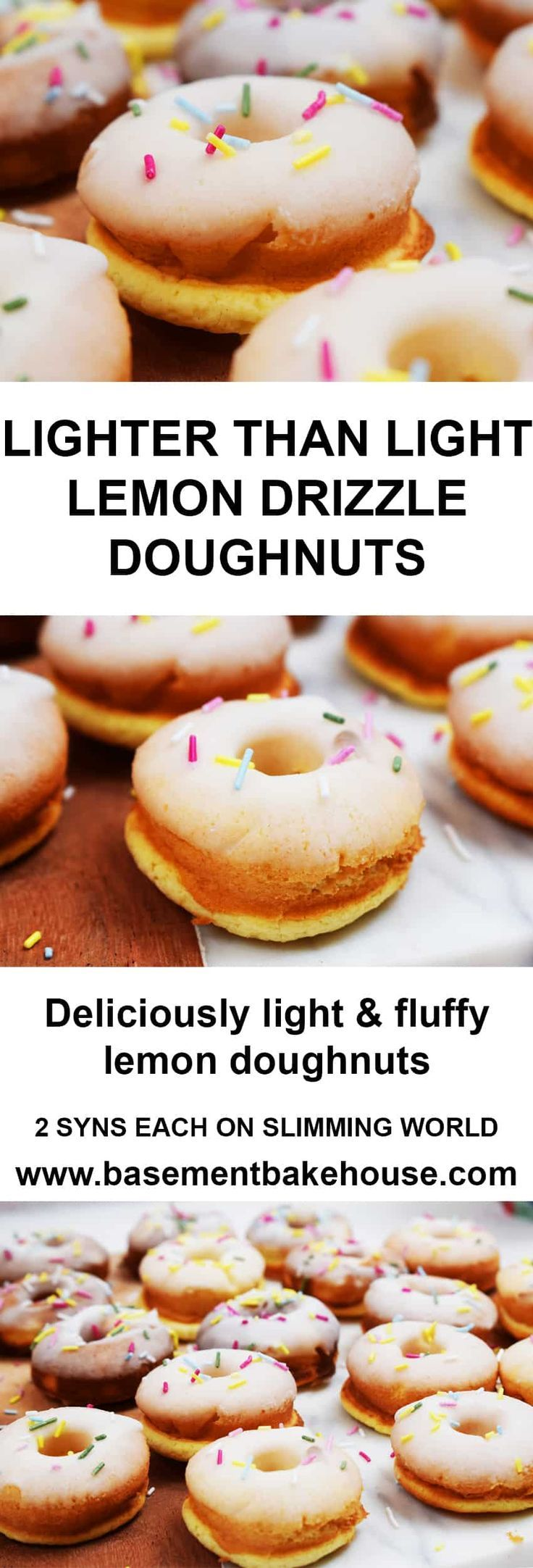Lighter Than Light Lemon Drizzle Doughnuts - Low Syn on Slimming World - Healthy... -