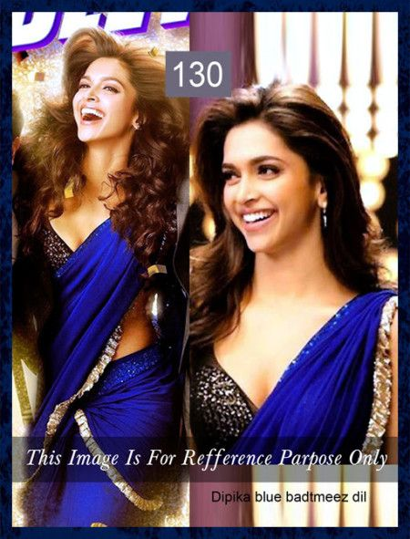 c9652dde4b ... Online Shopping Portal. Deepika Padukone Royal Blue Saree by  Vendorvilla.com