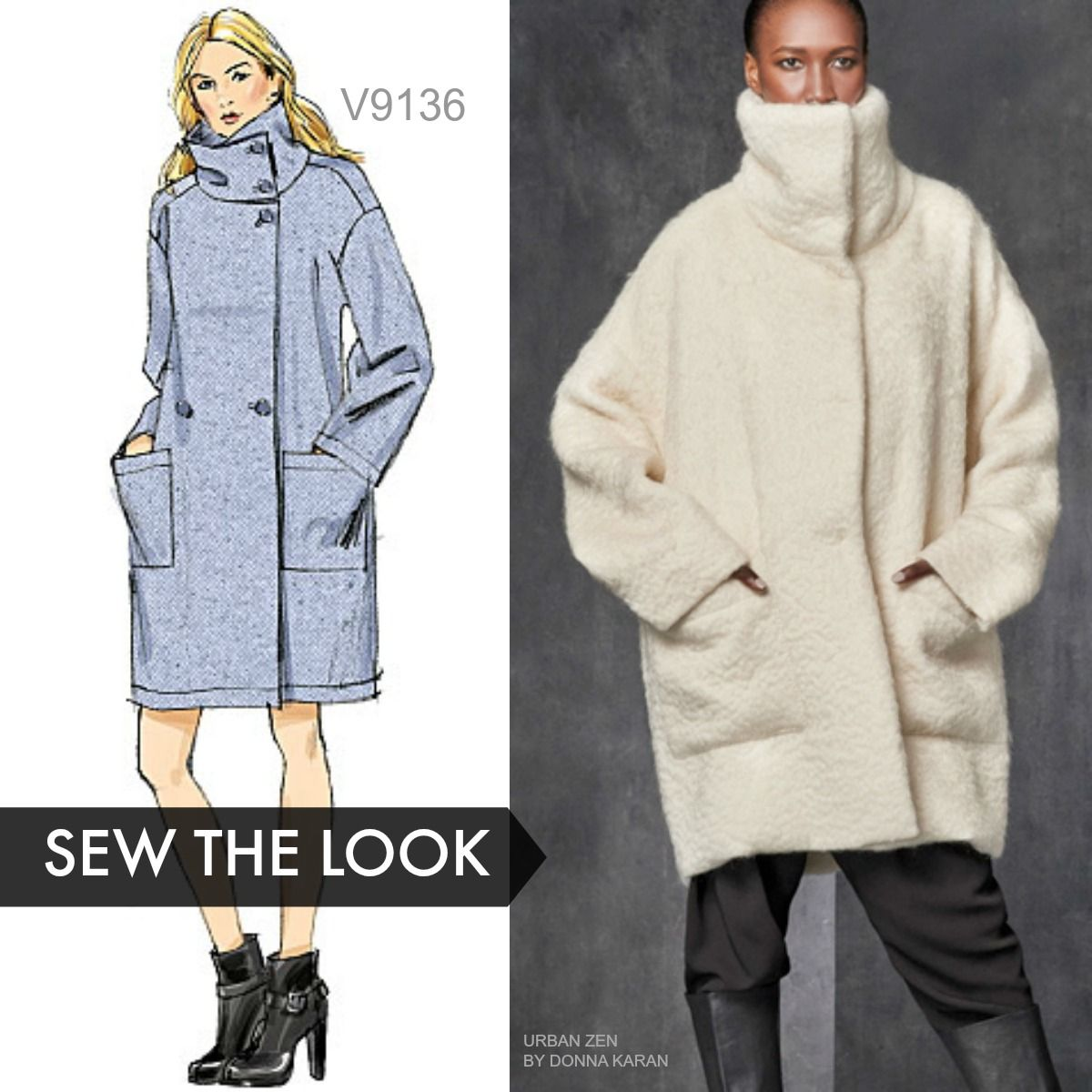 Sew the Look: Vogue Patterns V9136 unlined coat sewing pattern ...