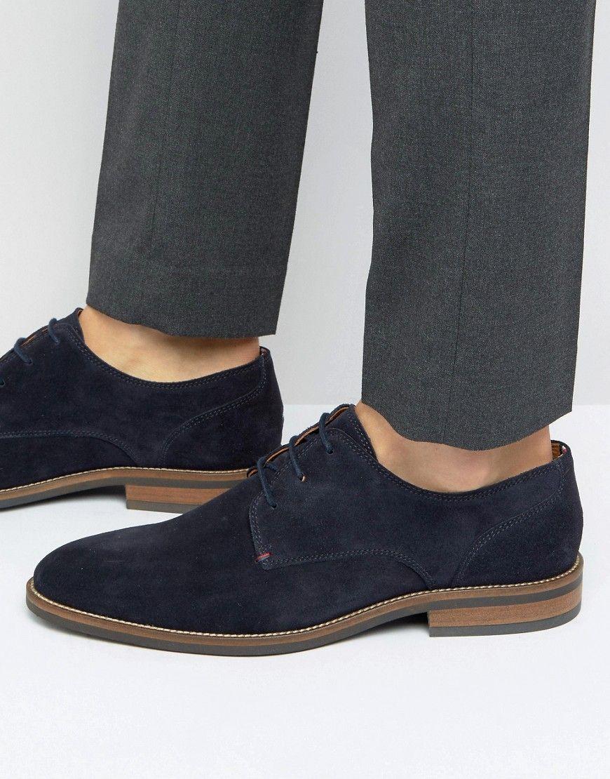 8903d5c8f Tommy Hilfiger Daytona Suede Derby Shoes - Navy