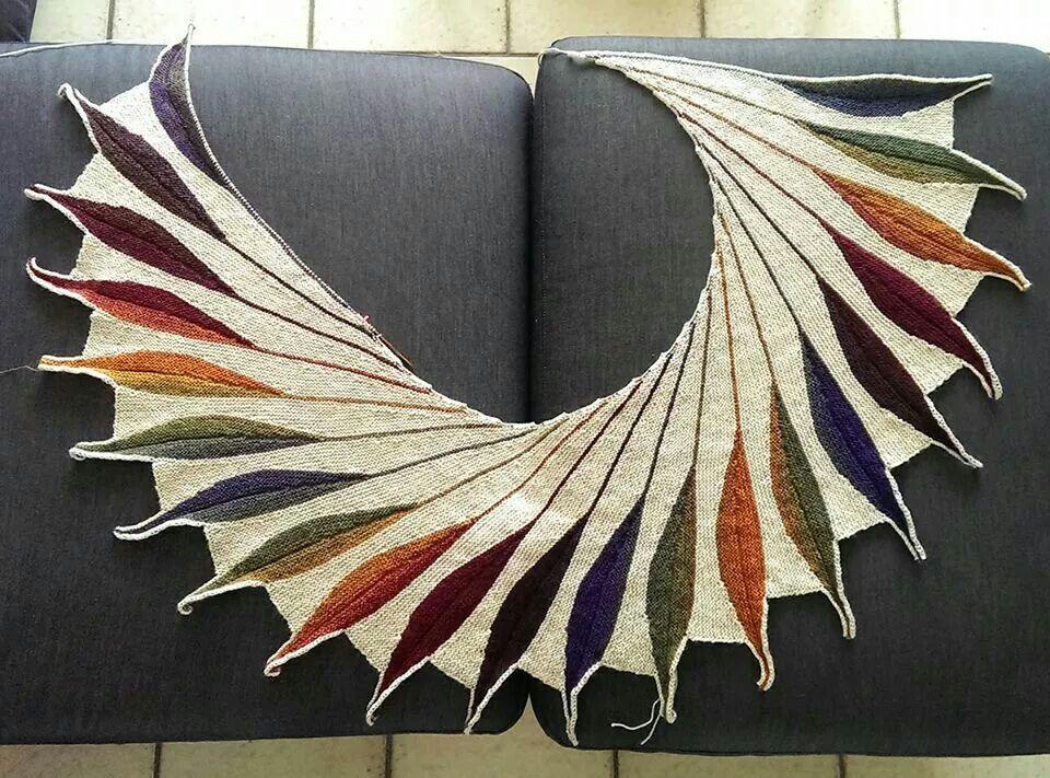Beautiful wingspan shawl | Crochet | Pinterest | Shawl ...