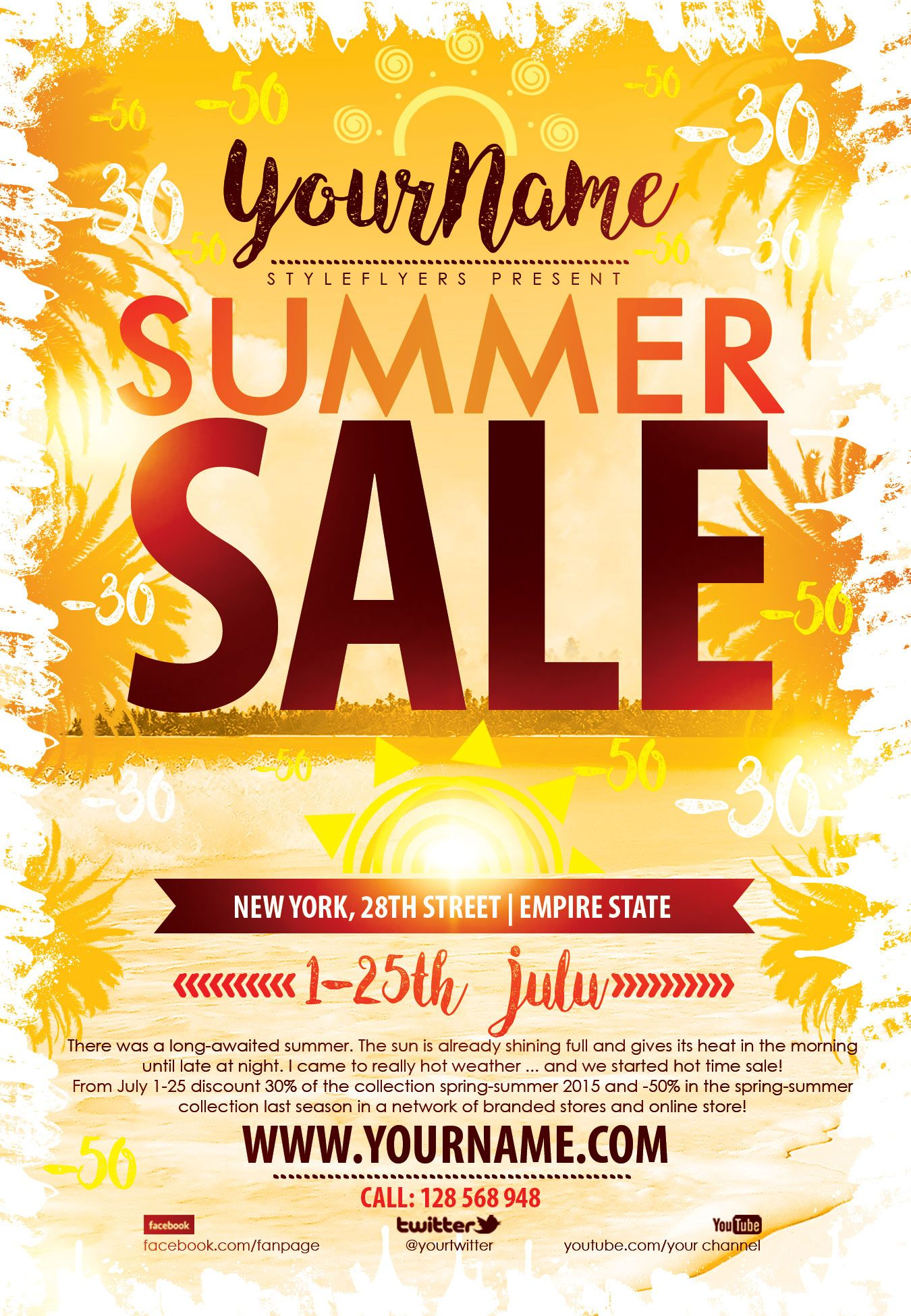summer sale psd flyer template free download 9361 flyers