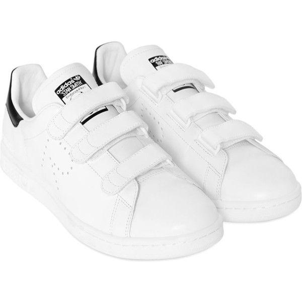 alta calidad selección premium precios de remate Adidas By Raf Simons Women Stan Smith Strap Leather Sneakers ...