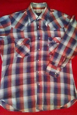 Vintage 80s Levi's Shirt Plaid 9cE1coe
