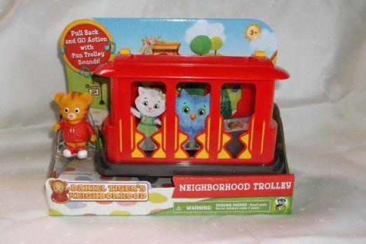 For Finny - Amazon.com: Daniel Tiger's Neighborhood: Neighborhood Trolley. Includes Daniel Tiger Figure: Toys & Games
