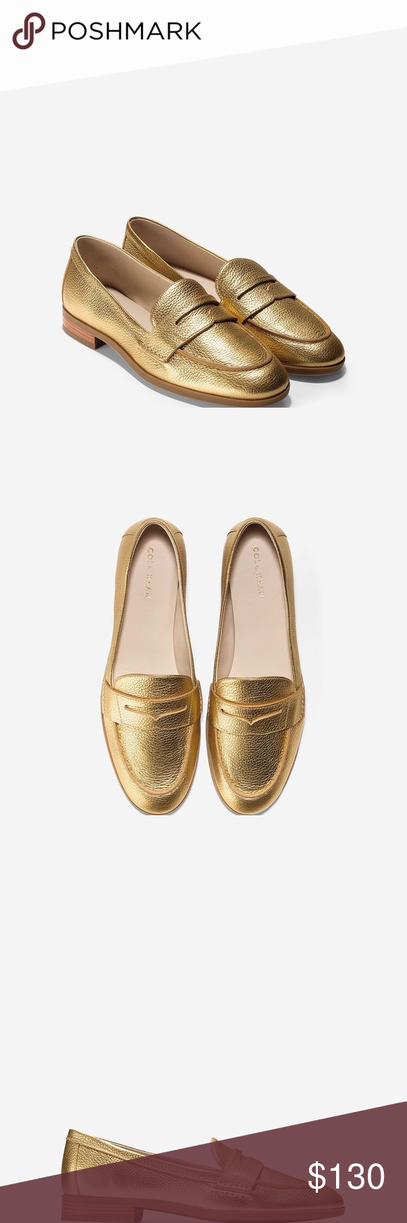 7b32c10b8dc5 Cole Haan Women s Pinch Grand Penny Loafer Brand new with box Gold Metallic  color 5B Cole Haan Shoes Flats   Loafers