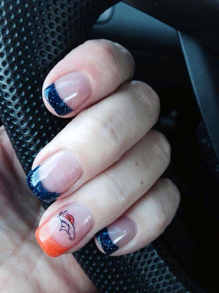 Denver Broncos nails :: Beauty Bar Inc. - Colorado Springs, CO ...