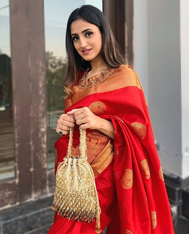 Designer Bollywood Saree Indian Pakistani Wear Kanchipuram Sari Art Silk New TR