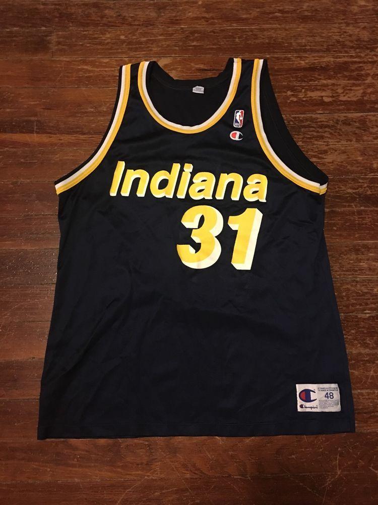 Champion NBA Basketball Indiana Pacers Reggie Miller  31 Jersey ... 7d97e7982